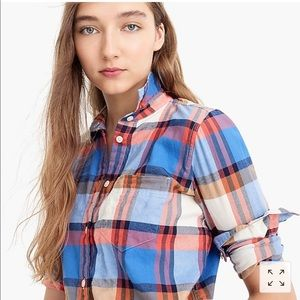 J. Crew Tops - J Crew shirt in blue pacey plaid